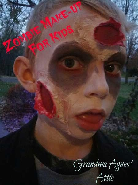 halloween zombie kids facepainting
