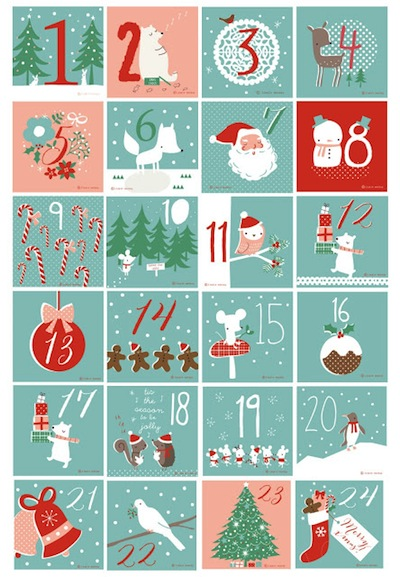 advent calendar free printables numbers