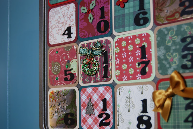 advent calendar muffin tin