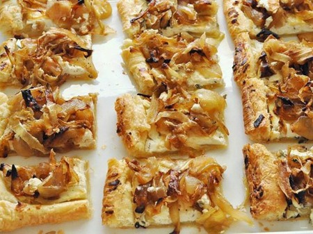 21. Caramelized Onion & Goat Cheese Tartlets