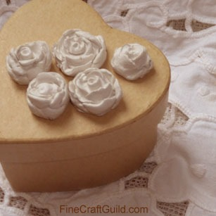 darling diy clay blue roses :: fine Craft Guild .com