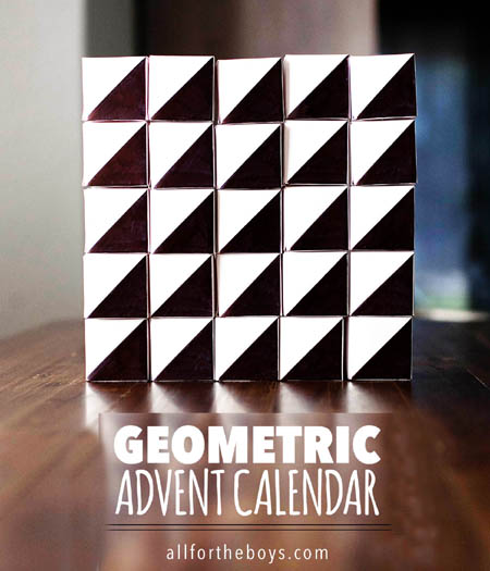 homemade advent calendars geometric boxes