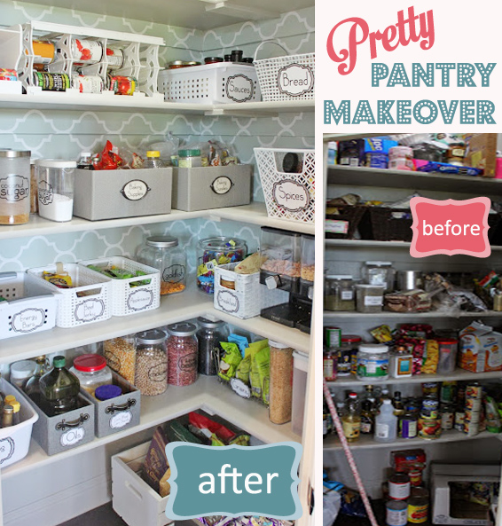 Pretty Pantry Makeover