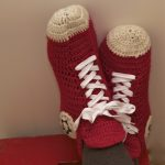 Sneakers crochet slippers :: FineCraftGuild.com