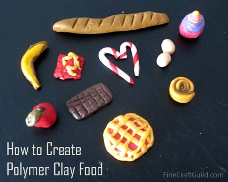 how to make polymer clay food :: finecraftguild.com