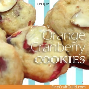 cookie recipes :: orange cranberry cookies :: finecraftguild.com
