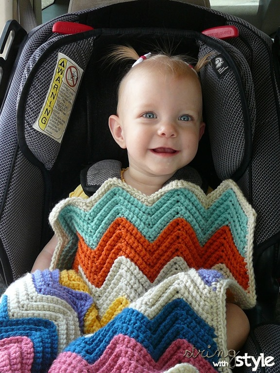 Chevron Baby Blanket for Car Seat – Free Crochet Pattern