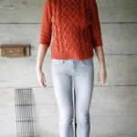 fashion jumper cable sweater free knitting pattern
