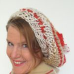 Slouchy Hat Knitting Pattern with Happy Hearts