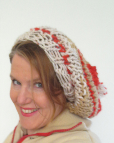 free slouchy hat knitting pattern :: FineCraftGuild.com