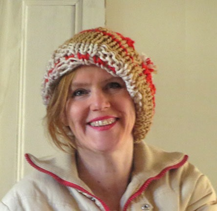 slouchy hat knitting pattern :: FineCraftGuild.com