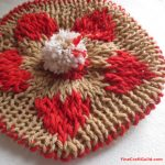 heart beret slouchy hat knitting pattern :: FineCraftGuild.com