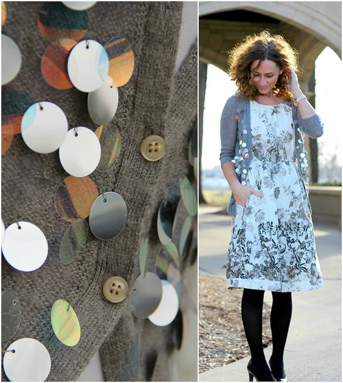 how to make paillette cardigan