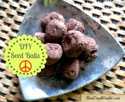cool crafts for kids :: organic seed bombs  :: FineCraftGuild.com