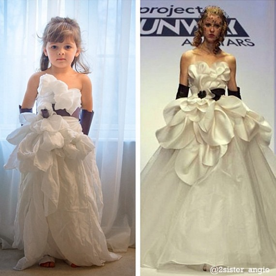 Runway-inspired, 4-year-Old Makes Own Incredible Paper Dresses