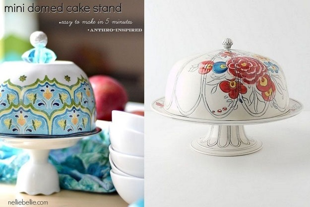 DIY Cake Stand with Dome  – Anthropologie-copycat
