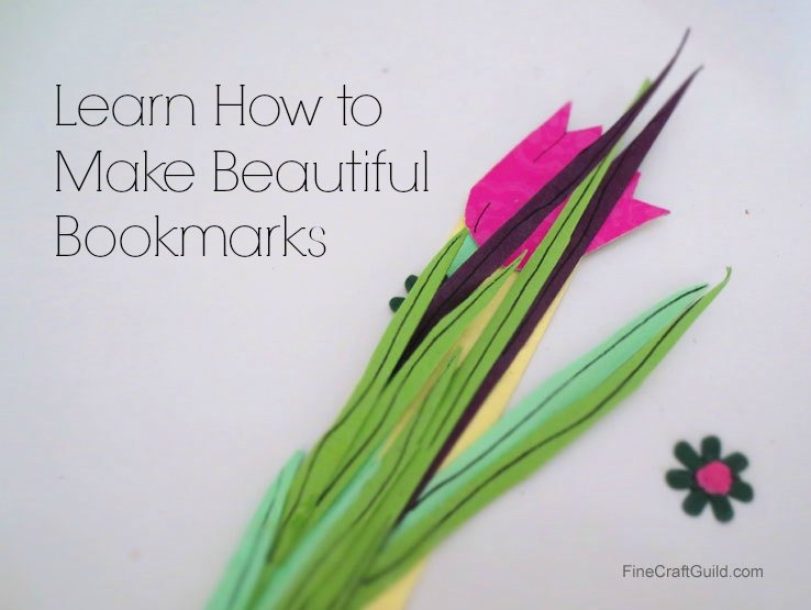 How to make bookmarks for kids :: FineCraftGuild.com