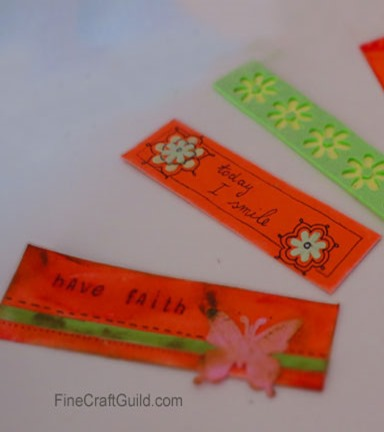 Learn how to Make Beautiful Bookmarks :: FineCraftGuild.com