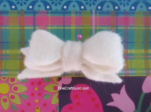 how to make  a felt bow