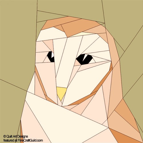 Paper Piecing Quilt Patterns Animals and Flowers :: Owl