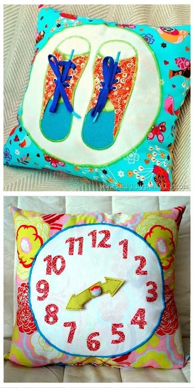 pillow quilting patterns clock