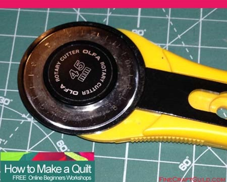 quilting supplies and quilting tools, rotary cutter