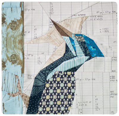 woodpecker bird paper piecing quilt block paterm