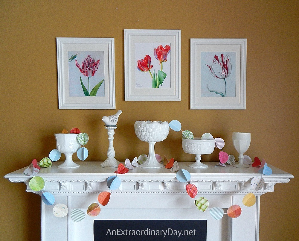 Spring Mantel Howto by Extraordinary Day, Featured at FineCraftGuild.com