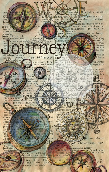 art journal page journey