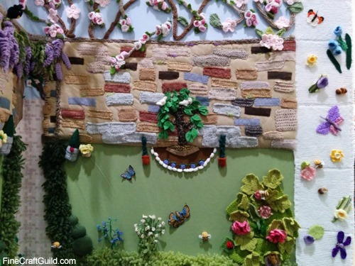 adorable crochet flowers scene @ Creative Stitches & Hobby Crafts Show 2014 London