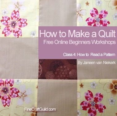 free online quilting workshop :: how to read quilt patterns
