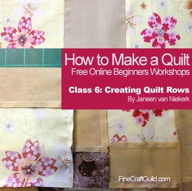 learn how to quilt rows