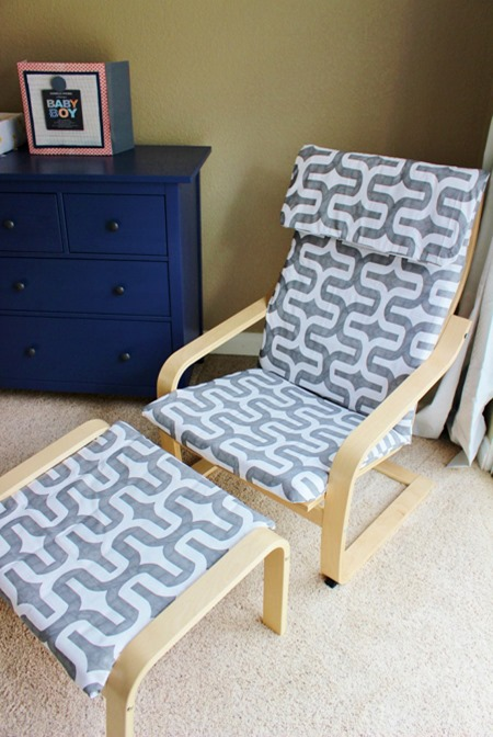 ikea poang chair cover sewing pattern furniture makeover slipcover hack