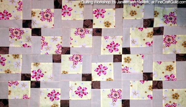 joining quilt rows :: how to make quilt rows :: free online quilting workshop for beginners