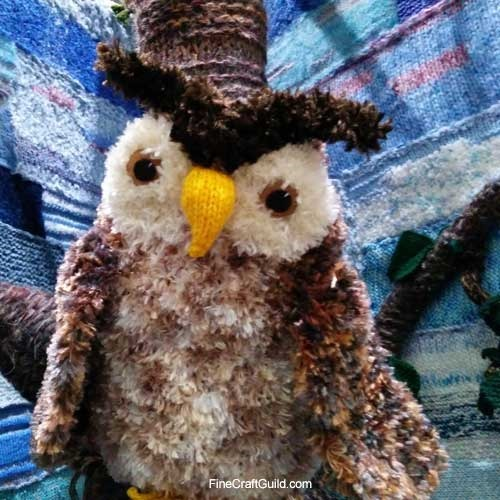 knit owl in woodland @ Creative Stitches & Hobby Crafts Show 2014 London