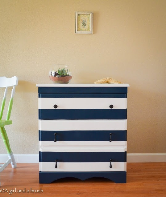 recycled Furniture :: DIY nautical dresser