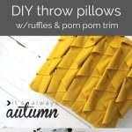 DIY Decorative Throw Pillows Sewing Tutorial