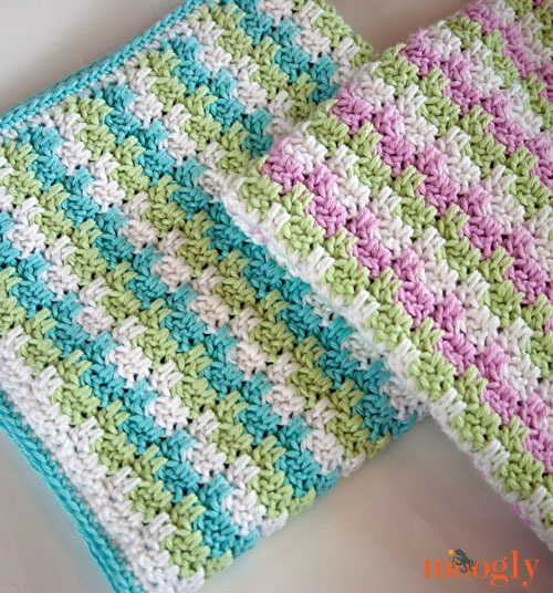 Stripes Blocks Blanket free crochet pattern