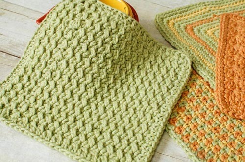 crunchy stitch crochet, free dishcloth crochet pattern