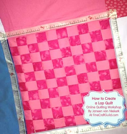 how to make unique lap quilt :: free online quilting course for beginners :: finecraftguild.com