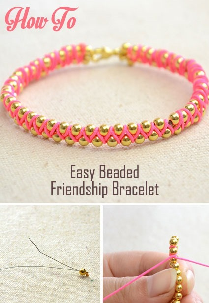 Easy beaded friendship Bracelet Pattern