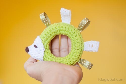 hedgehog baby toy gift free crochet pattern