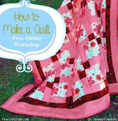 how to add batting and a backing to a quilt :: free quilting workshop