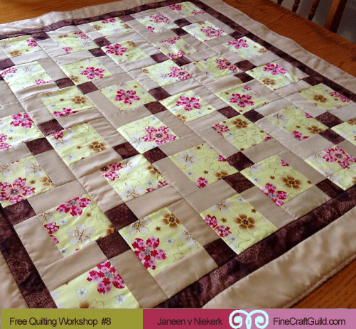 how to do the binding of a quilt:: free quilting workshop