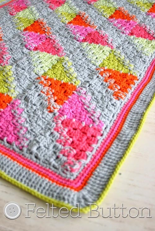 puzzle patch blanket  :: Beautiful Free Crochet Patterns