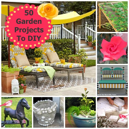 50 garden projects  to diy