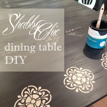 DIY shabby chic dining table :: FineCraftGuild.com