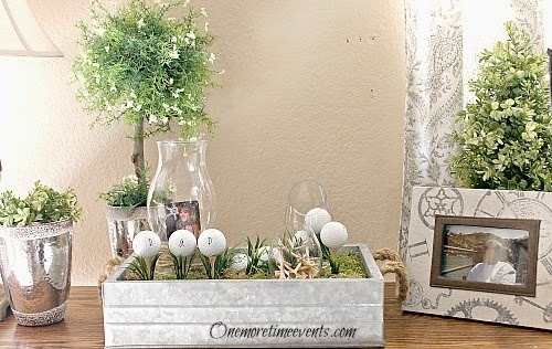 How to Create a Fathers Day Vignette for a Golf Loving Dad
