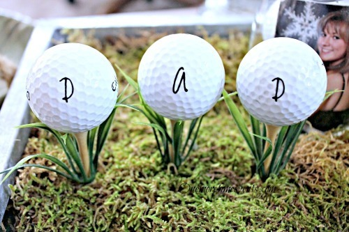 Fathers Day Vignette dad golfballs