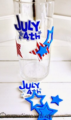Fourth of July decorating with Foam stickers